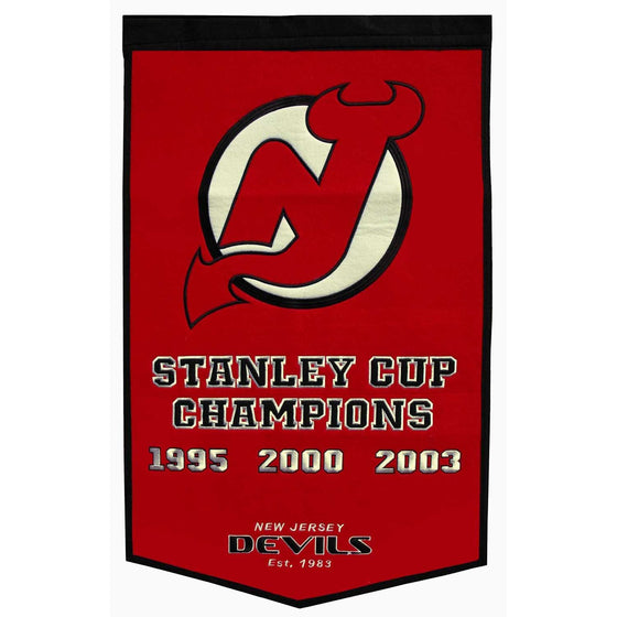 NHL, New Jersey Devils, Banners, Embroidered Banner, Officially licensed banner, New Jersey Devils gift