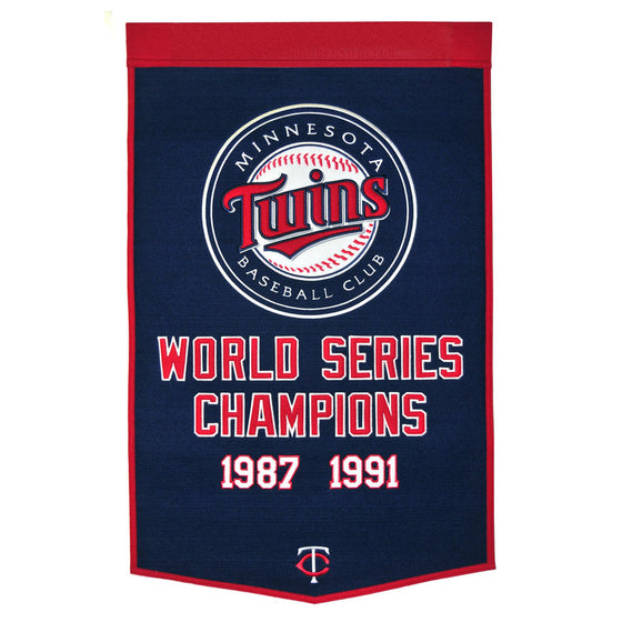 MLB, Minnesota Twins, Banners, Embroidered Banner, Officially licensed banner, Minnesota Twins gift