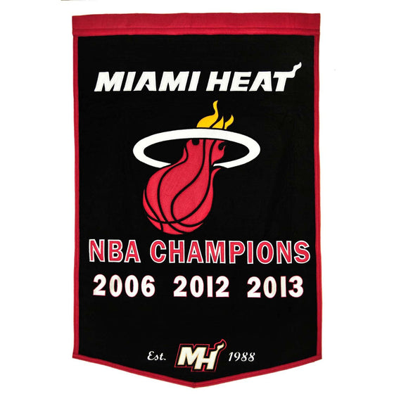 NBA, Miami Heat, Banners, Embroidered Banner, Officially licensed banner, Miami Heat gift
