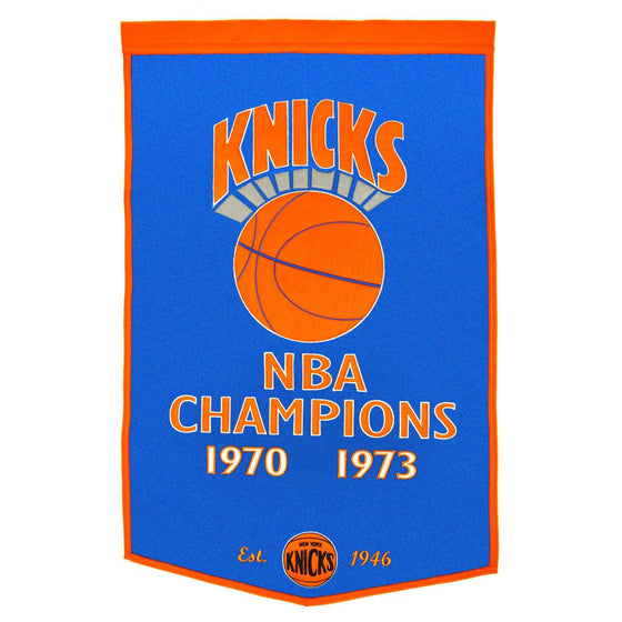 NBA, New York Knicks, Banners, Embroidered Banner, Officially licensed banner, New York Knicks gift