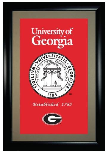 NCAA, Georgia, Framed Banners, Framed banner, Officially licensed Framed banner, Georgia gift
