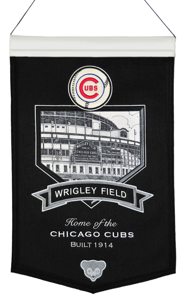 MLB, Chicago Cubs, Banners, Embroidered Banner, Officially licensed banner, Chicago Cubs gift