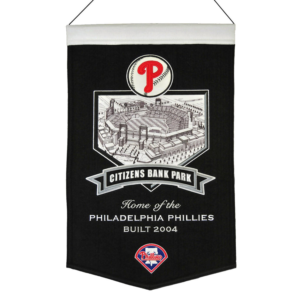 MLB, Philadelphia Phillies, Banners, Embroidered Banner, Officially licensed banner, Philadelphia Phillies gift