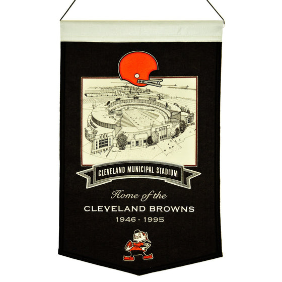 NFL, Cleveland Browns, Banners, Embroidered Banner, Officially licensed banner, Cleveland Browns gift