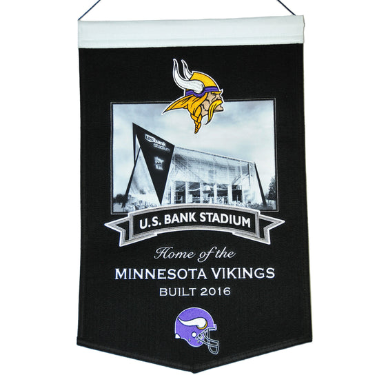 NFL, Minnesota Vikings, Banners, Embroidered Banner, Officially licensed banner, Minnesota Vikings gift