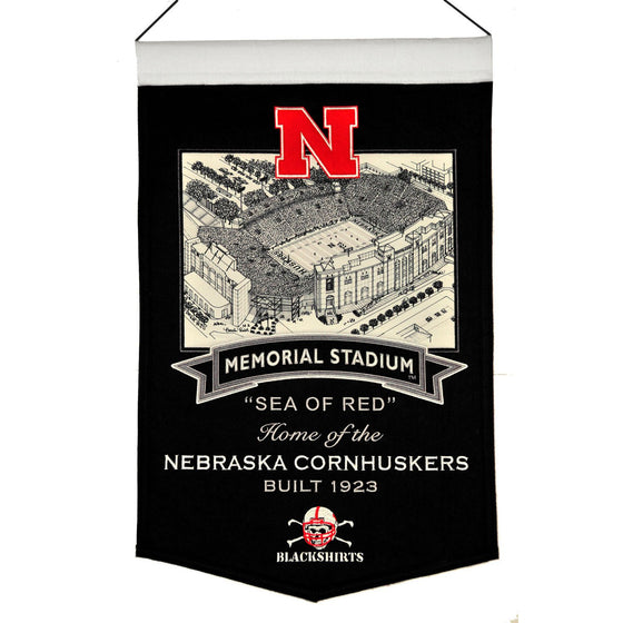NCAA, Nebraska, Banners, Embroidered Banner, Officially licensed banner, Nebraska gift