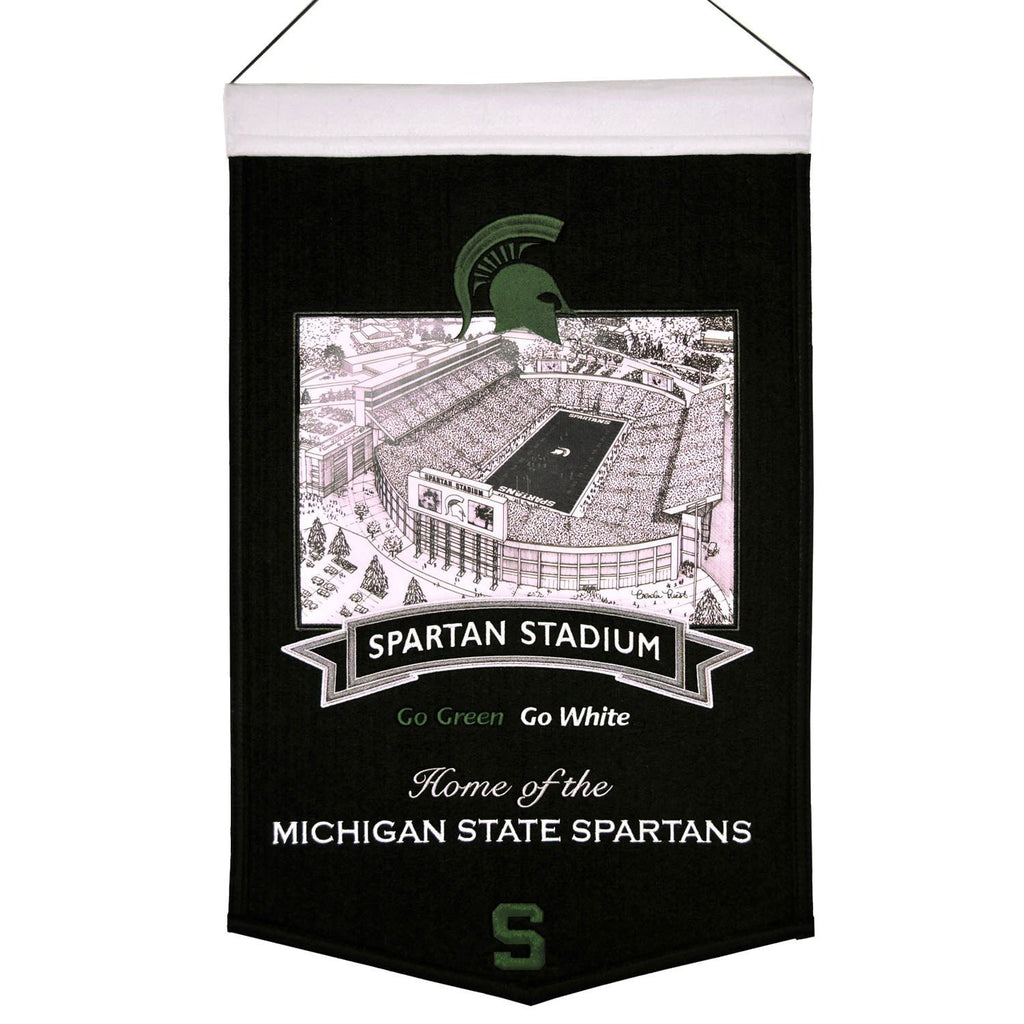 NCAA, Michigan State, Banners, Embroidered Banner, Officially licensed banner, Michigan State gift