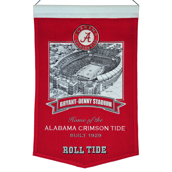 NCAA, Alabama, Banners, Embroidered Banner, Officially licensed banner, Alabama gift