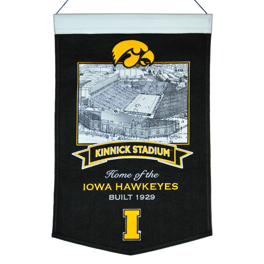 NCAA, Iowa, Banners, Embroidered Banner, Officially licensed banner, Iowa gift