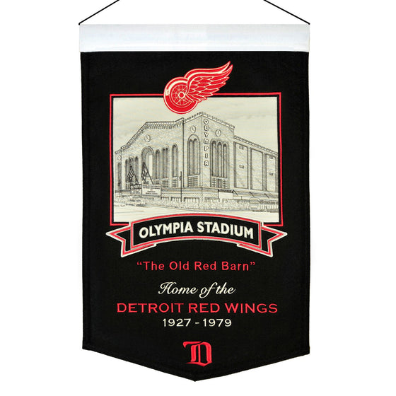 NHL, Detroit Red Wings, Banners, Embroidered Banner, Officially licensed banner, Detroit Red Wings gift