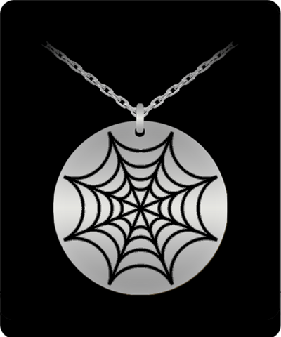 Connected Web Engraved Necklace