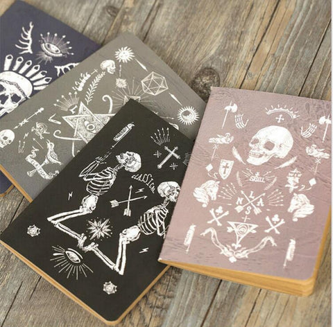 Skeleton Art Mini Notebook