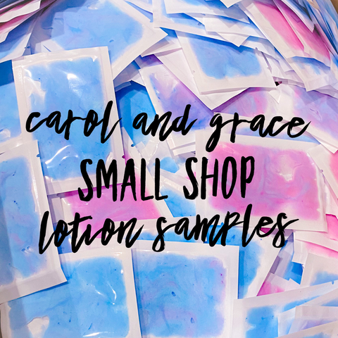 LOTION SAMPLES (FOR SHOP OWNERS ONLY!) LEAVE SHOP NAME & WEBSITE IN NOTES FOR LABELS!!!