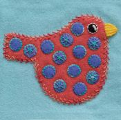 Sue Spargo -Polka Dot Bird Block