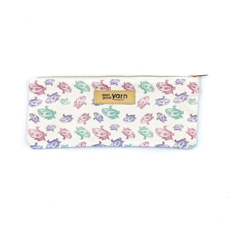 DGY - Paisley Knitting Needle and Crochet Hook Case