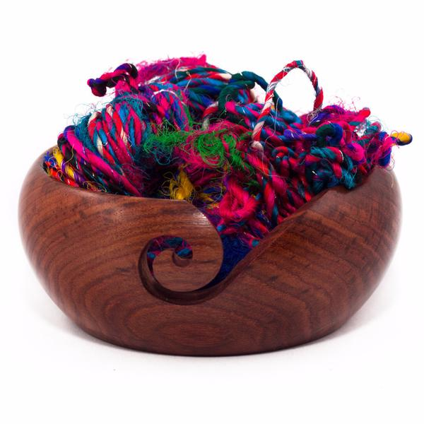 DGY - Handmade Wooden Yarn Bowl