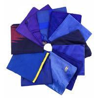DGY - Recycled Sari Silk Fat Quarter Bundle - Indigo
