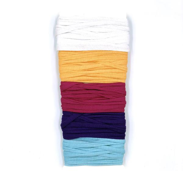 DGY - 5-Color Recycled Sari Silk Sampler - Perfect Cotton