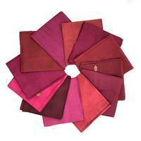 DGY - Recycled Sari Silk Fat Quarter Bundle - DGY - Red Dragon