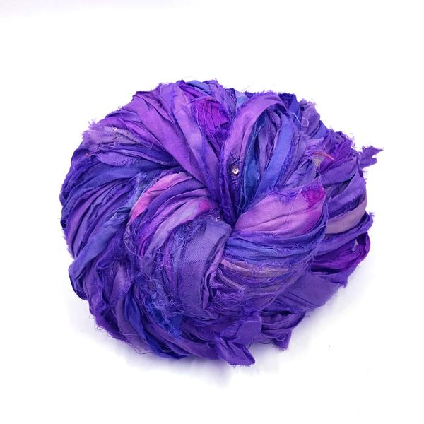 DGY - Recycled Sari Silk Ribbon - Ultra-Violet