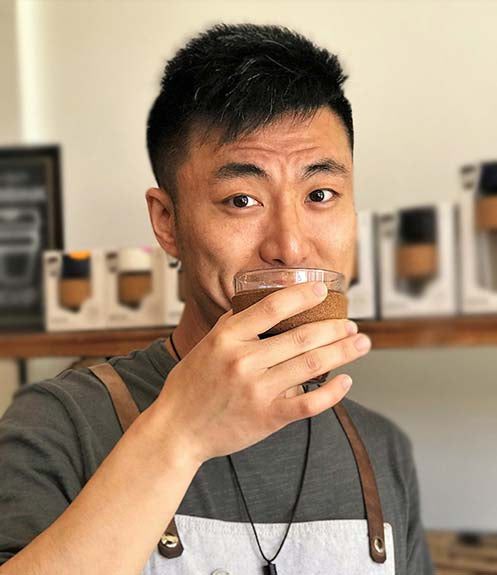 Leon Nie, owner and roaster of Regent Coffee.