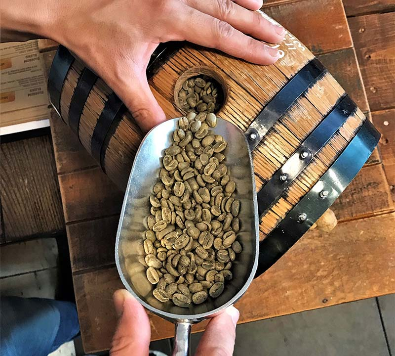Regent Coffee's bourbon barrel aged Guatemala Acatenango Geisha whole beans