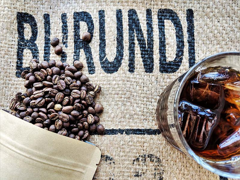 Regent Coffee's Barrel Aged Burundi Red Bourbon Whole Beans and Iced Coffee