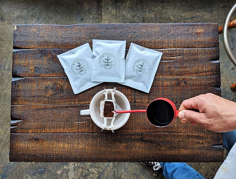 Regent Coffee's Single Use Pour Over Packets