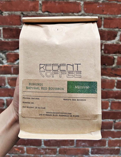 Burundi Natural Red Bourbon (16 oz) - Regent Coffee Roaster Glendale California