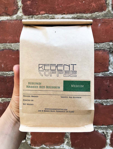 Burundi Coffee Beans Washed Red Bourbon 12oz - Regent Coffee Roaster Glendale California