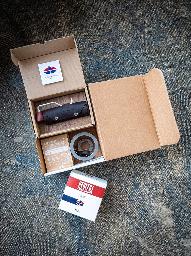 Saint Anthony Industries Coffee Gear Gift Box - Regent Coffee Roasters Glendale, California
