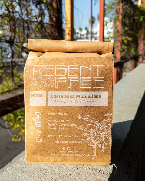 Costa Rica Whole Bean Coffee (12 oz) - Regent Coffee Roaster Glendale California