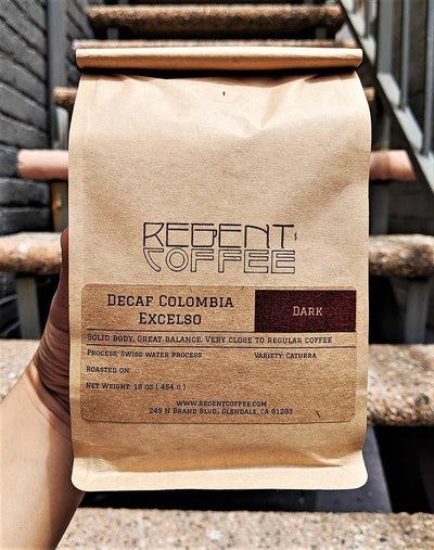 Decaf SWP Colombia Excelso (16 oz) - Regentcoffee-roaster-glendale-california