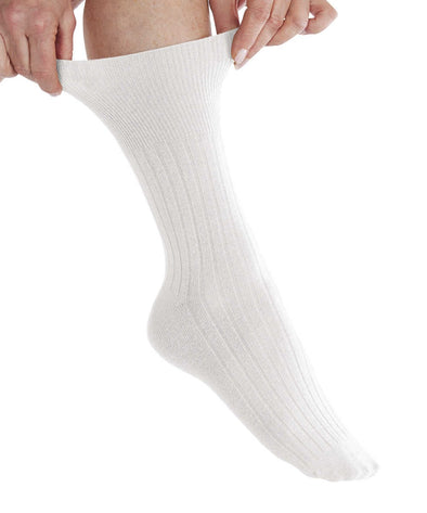 2 Pair Pack - Mild Compression Non Binding Cotton Socks