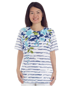 Dazzling Print Open-Back Top - Women's Adaptive Fashion Top For Disability