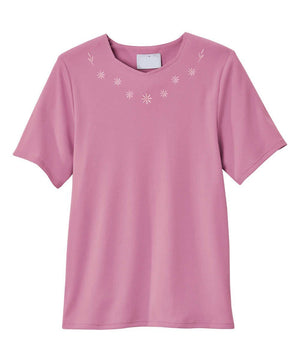 Adaptive Cotton T-Shirt For Women - Home Care Apparel - Back Snap Adaptive Tops