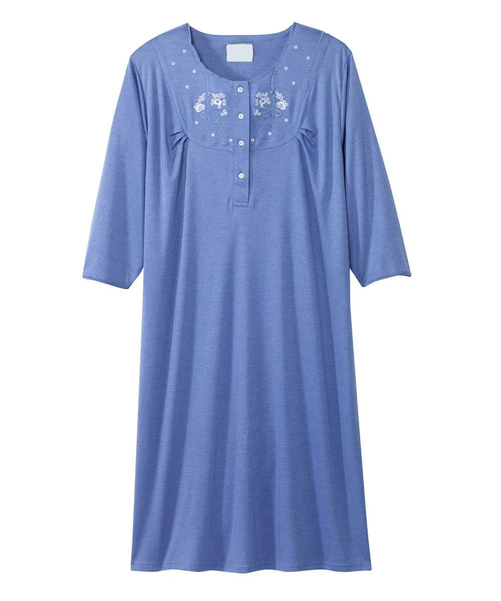 Women\'s Cotton Knit Snap Open Back Hospital Patient Gown – Adaptive ...
