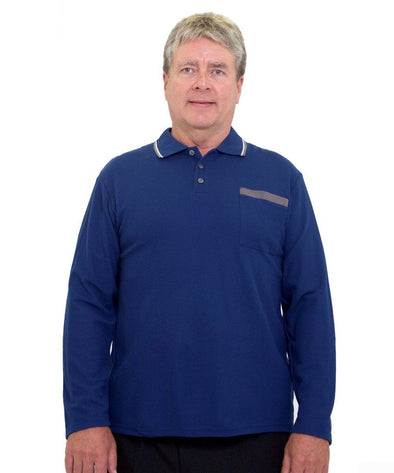 Men's Adaptive Polo Shirt - Fits Up To 4 XL - Adaptive Clothing Canada