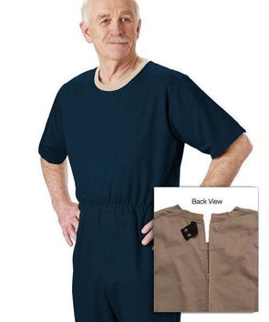 Mens' Alzheimers - Anti-Strip Jumpsuit - Extra Tear Resistant - Up To 3 XL - Adaptive Clothing Canada