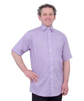 Mens Short Sleeve Shirt - Arthritis & Parkinson's - With Shirt Magnet Buttons - Adaptive Clothing Canada