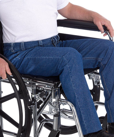 Mens Wheelchair Jeans - Quality Soft Denim For Wheelchair Fashion & Comfort - Adaptive Clothing Canada