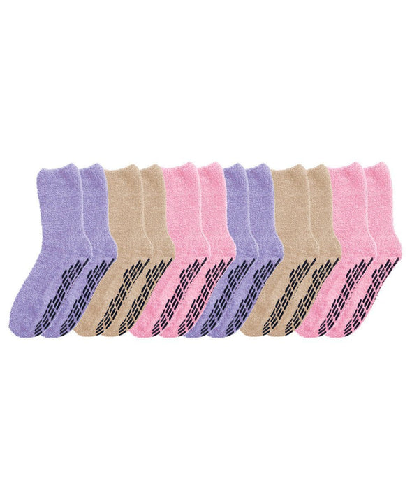 6 Pack  Regular & XL Men & Women ( Unisex)  Non Skid-Anti Slip Grip Socks - Adaptive Clothing Canada