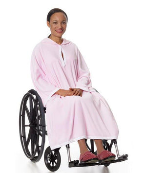 Women or Men's Terry Shower Cape  - Terry Wheelchair Poncho - Adaptive Clothing Canada