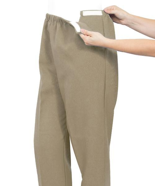 Soft Knit Arthritis Pants With Easy Access Straps - Adaptive Clothing Canada