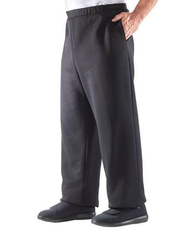 Arthritis Mens Fleece Pants With VELCRO® Strap Brand Closures - Adaptive Clothing Canada