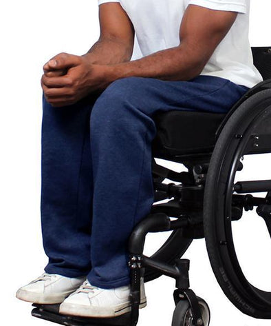 Men Fleece Adaptive Wheelchair Pants - Adaptive Clothing Canada