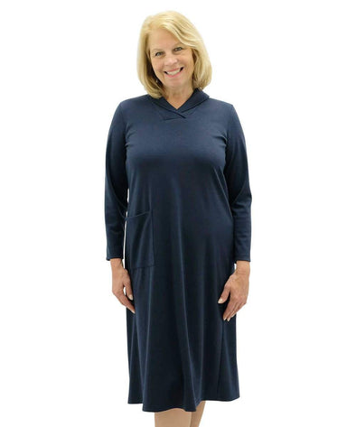 Ladies Winter Weight Adaptive Open Back Dress- Wheelchair - Adaptive Clothing Canada