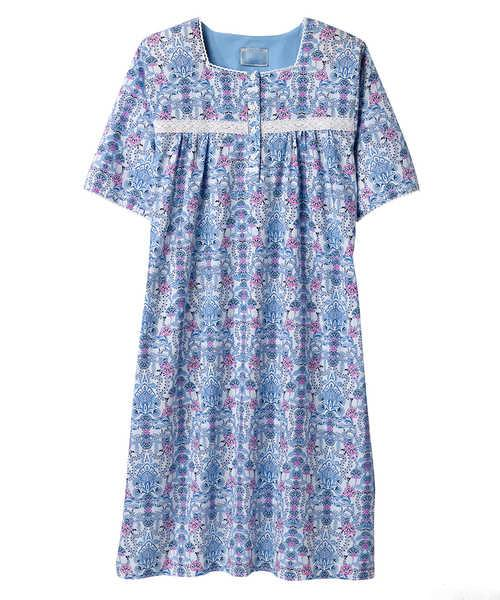 Pretty Summer Hospital Nightgown - Wrap Back Gowns - Adaptive Clothing Canada