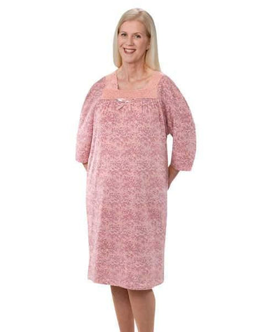 Women's Cotton Knit Adaptive Hospital Patient Gowns with Back Snap - Adaptive Clothing Canada