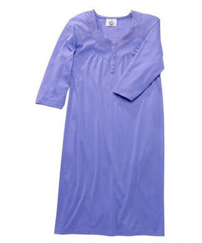Women's Pretty Hospital Patient, Open Back Snap Night Gown - Adaptive Clothing Canada